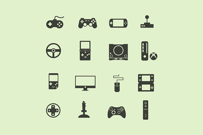 16-Game-Console-Icons - 35+ Fantastic Game Icon Sets [year]