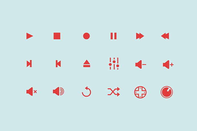 18-Audio-Control-Icons - 35+ Best Music & Sound Icon Sets [year]