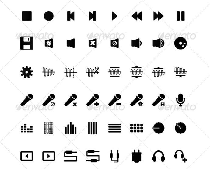 1mmm - 35+ Best Music & Sound Icon Sets [year]