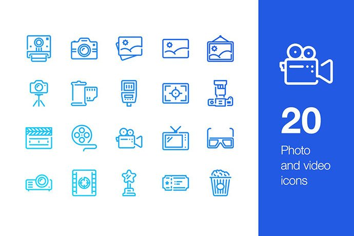 20-Photo-And-Video-Icons - 35+ Stunning Photography Icon Sets [year]