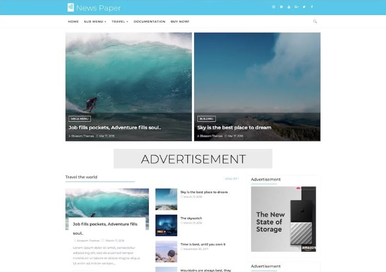 22 - 60+ Best Free Responsive News Blogger Templates [year]