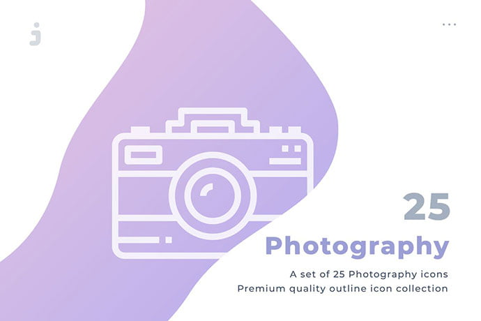 25-Photography-Icon-Set - 35+ Stunning Photography Icon Sets [year]