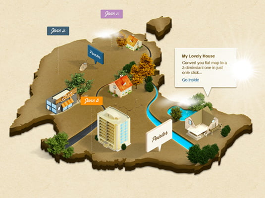 3D-Isometric-Map - 64+ FREE Amazing Photoshop Actions [year]