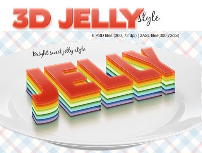 3D-Jelly-Style - 35+ Tasty Food & Drink Photoshop Text Effects