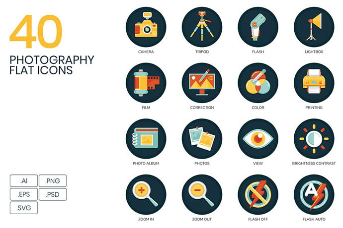 40-Photography-Icons - 35+ Stunning Photography Icon Sets [year]