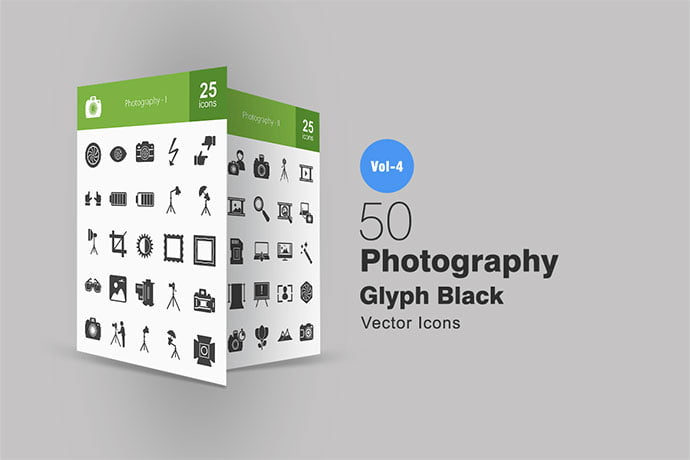 50-Photography-Glyph-Icons - 35+ Stunning Photography Icon Sets [year]