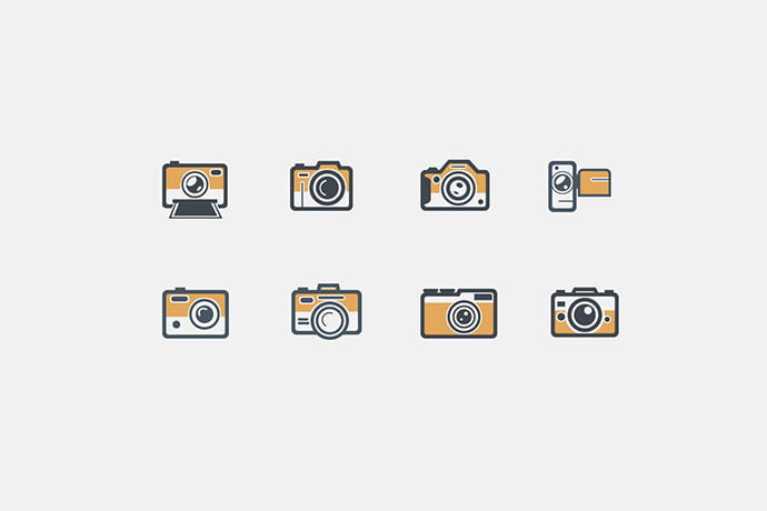 8-Retro-Camera-Icons - 35+ Stunning Photography Icon Sets [year]