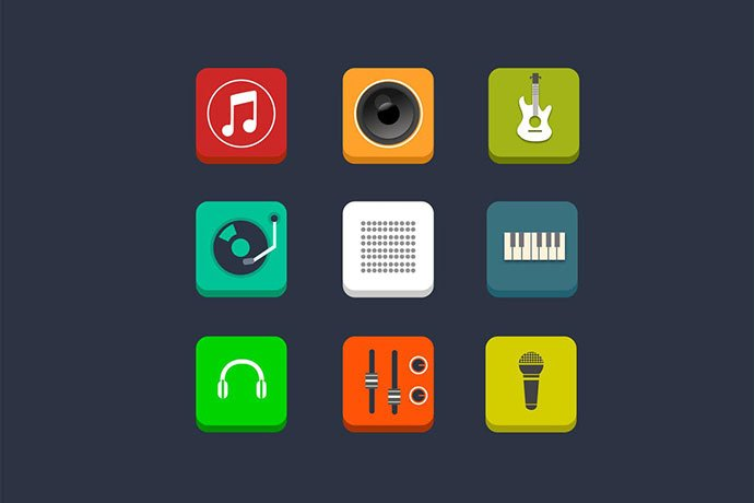 9-Music-and-Audio-Icons - 35+ Best Music & Sound Icon Sets [year]