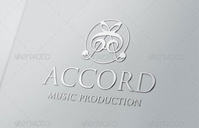 A-Music-Logo-Letter-Accord-Production - 35+ Excellent Monogram Logo Design Templates