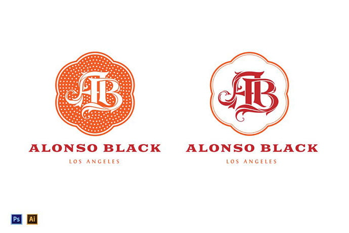 AB-Monogram-Logo-Template - 35+ Excellent Monogram Logo Design Templates