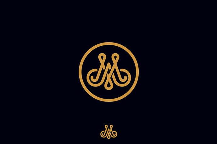 AM-logo-monogram-1 - 32+ Amazing Personal Logo Design Templates [year]