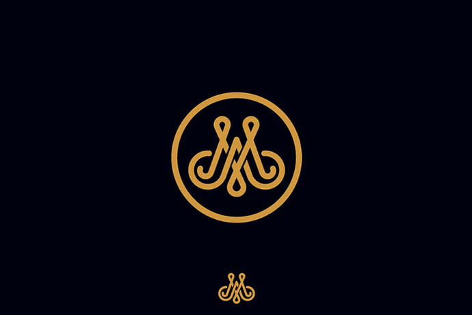 AM-logo-monogram - 35+ Excellent Monogram Logo Design Templates