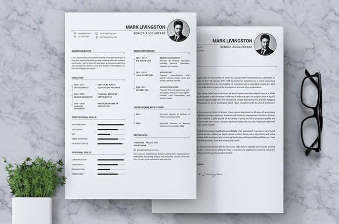 Accounting-Accountant-CV-Resume - 35+ Stunning Black & White Resume Templates [year]