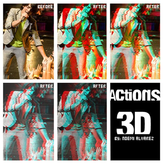 Action-3D - 64+ FREE Amazing Photoshop Actions [year]