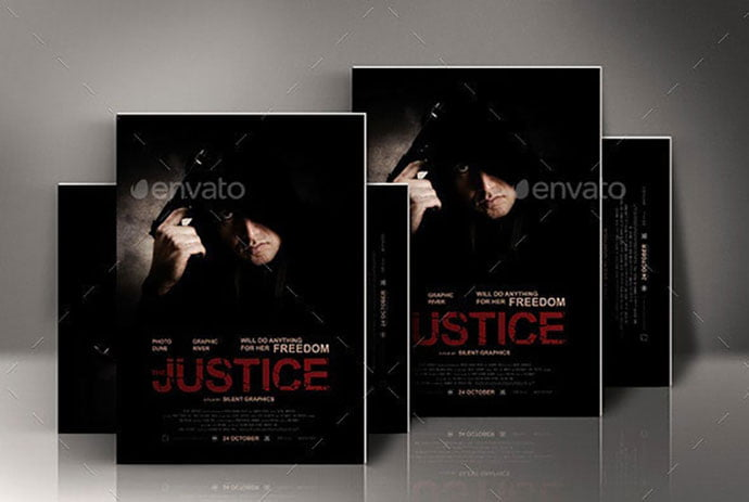 Action - 35+ Nice PSD Movie Poster Design Templates [year]