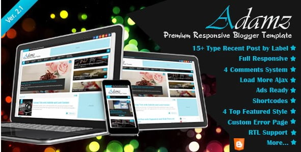Adamz - 35+ Amazing One Page Inventive Blogger Template [year]