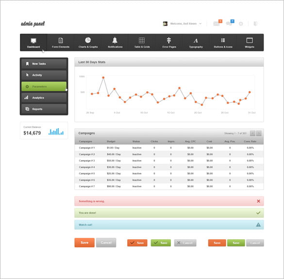 Admin-Panel - 35+ Free PSD Admin Template Designs [year]