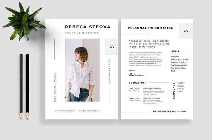 Adobe-Illustrator-CS-4-or-latest-version - 35+ Stunning Black & White Resume Templates [year]