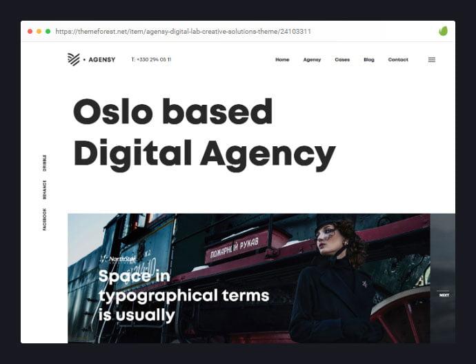 Agensy - 35+ Minimal WordPress Theme Designs For Creatives [year]
