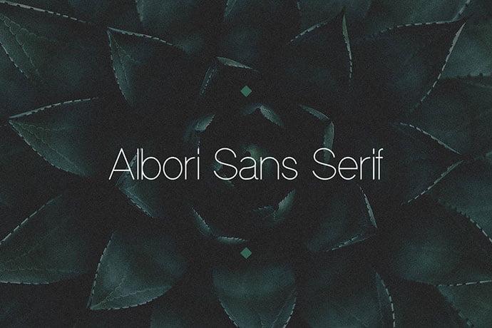 Albori-Sans - 35+ Effective Fonts for Brochure Design [year]