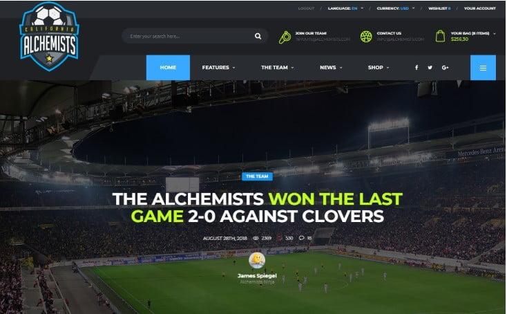 Alchemists - 45+ Responsive News Website Templates [year]
