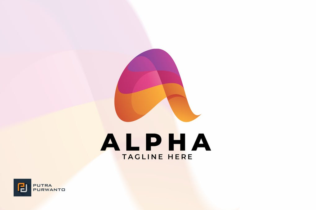 Alpha-Logo-Template - 35+ Glamor 3D Flat Logo Design Templates