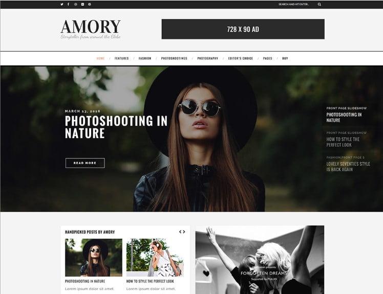 Amory - Top 60+ News Magazine WordPress Themes [year]