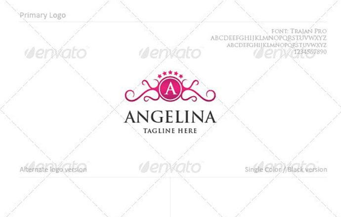 Angelina - 50+ Stunning Beauty Salon Logo Design Templates [year]