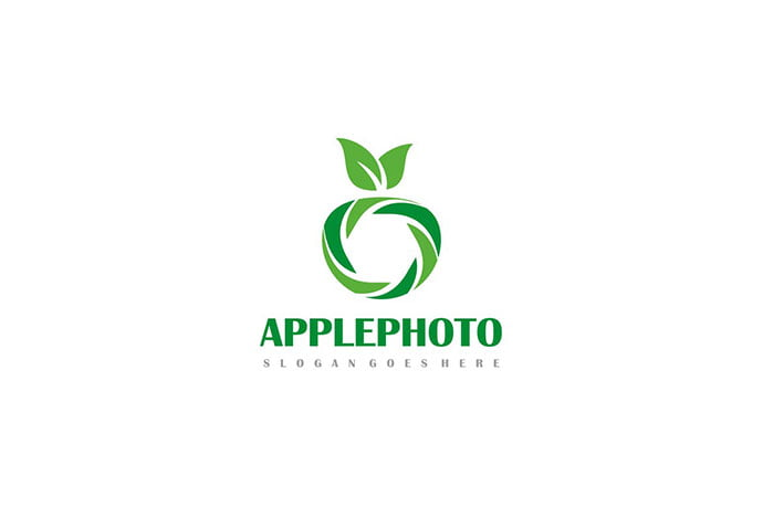 Apple-Photography-Logo - 30+ Stunning Fruit & Vegetable Logo Design Templates