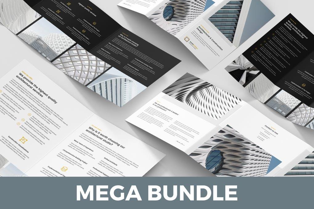 Architect - 60+ Bi-fold & Tri-fold Brochure Design Templates [year]