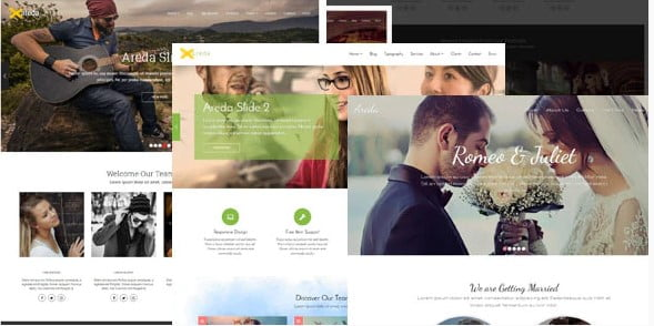 Areda - 35+ Awesome One Page Creative Blogger Template [year]