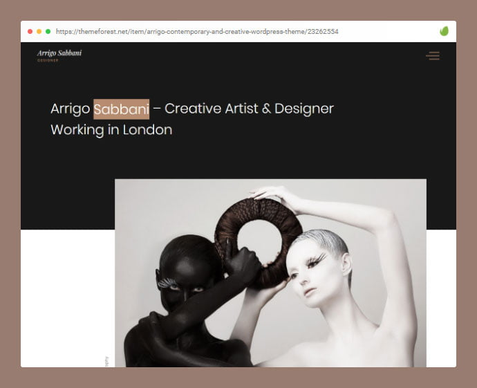Arrigo - 35+ Minimal WordPress Theme Designs For Creatives [year]