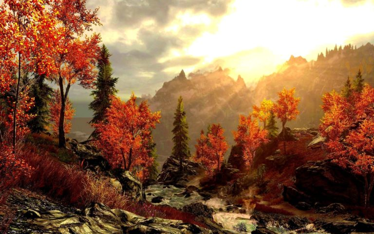 Art-Painting-Forest-Autumn-Mountains-Wallpaper-2560x1600-768x480-1 - 50+ Free Download Full HD Autumn Wallpapers [year]