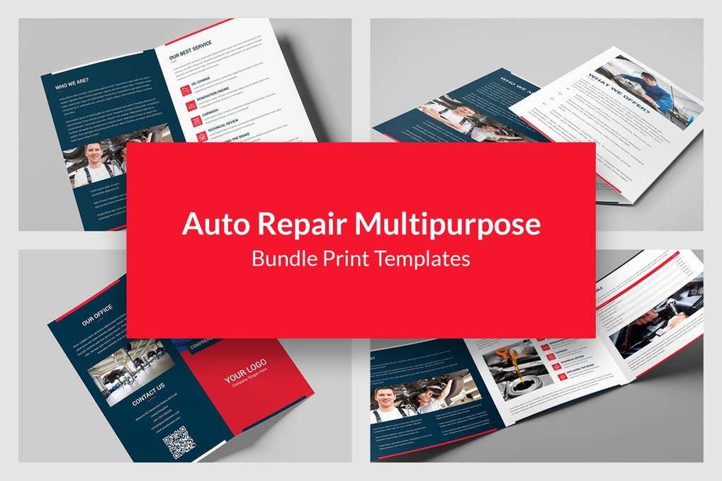 Auto-Repair - 60+ Bi-fold & Tri-fold Brochure Design Templates [year]
