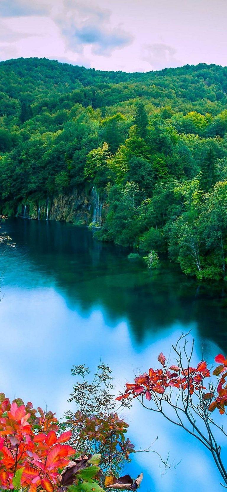 Autumn-Forest-Lake-Trees-Waterfalls-1080x2340-768x1664 - 50+ Free Xiaomi Mi CC9 Phone Wallpapers [year]