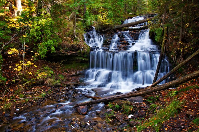 Autumn-Waterfall-Cascade-Trees-Nature-Wallpaper-4672-X-3104-768x510 - 50+ Free Download Full HD Autumn Wallpapers [year]