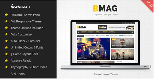 BMAG-1 - 35+ Amazing One Page Inventive Blogger Template [year]