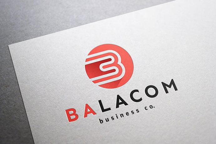 Balacom-Logo-–-Letter-B-Monogram - 35+ Excellent Monogram Logo Design Templates [year]