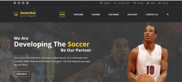 Basketball - 45+ Responsive News Website Templates [year]