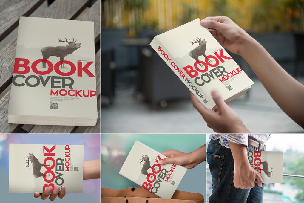 Beautiful-Book-Cover-Mockups-1 - 35+ PSD Book Cover Mockup Templates [year]