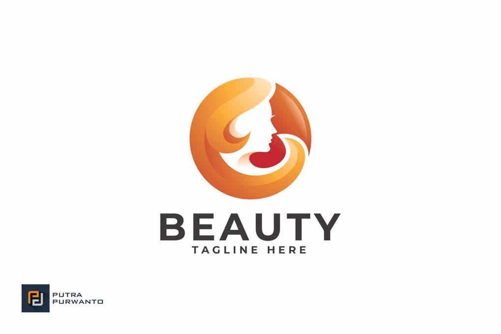 Beauty-Logo-Template - 35+ Glamor 3D Flat Logo Design Templates