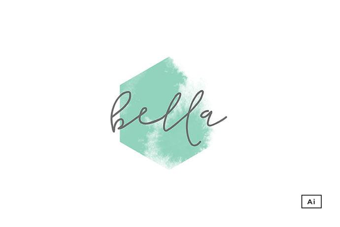 Bella-Hexagon-Logo-Template-1 - 50+ Stunning Beauty Salon Logo Design Templates [year]