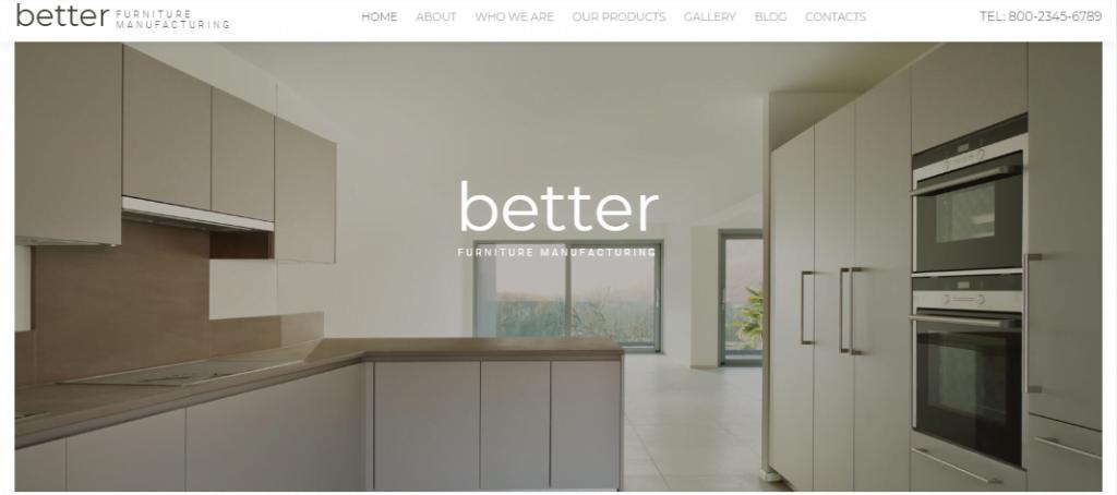 Better-Furniture-Manufacturing - 60+ HTML Interior & Furniture Website Templates [year]