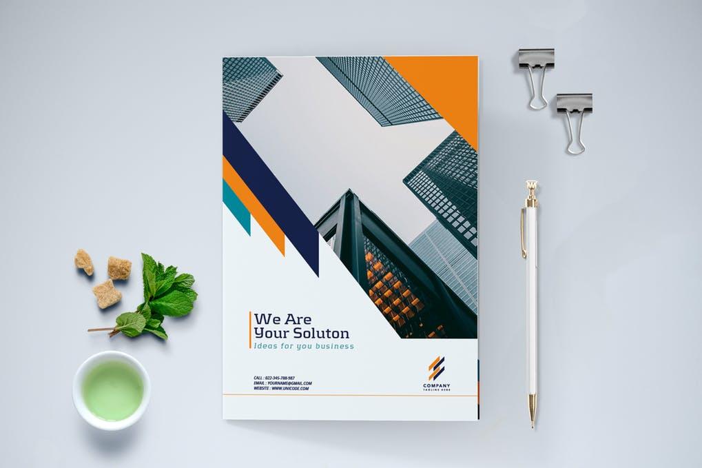 Bifold-Modern-Business-Brochure - 60+ Bi-fold & Tri-fold Brochure Design Templates [year]