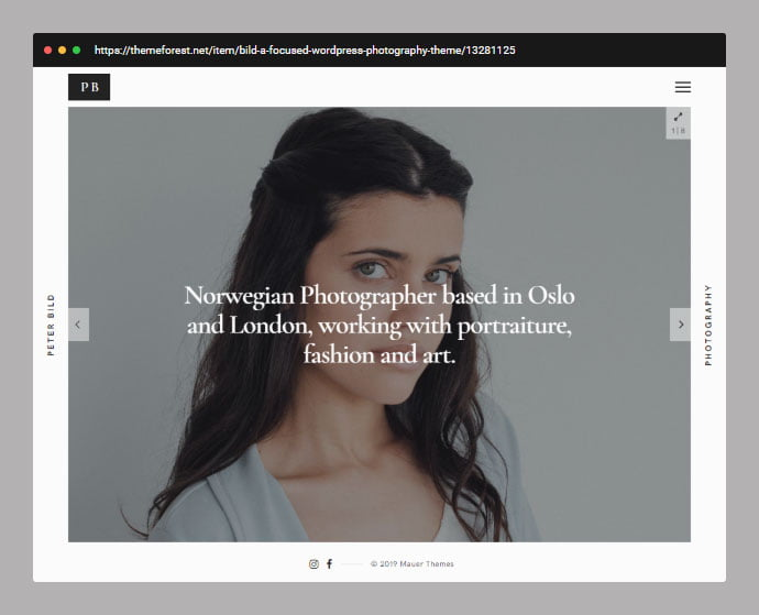 Bild - 30+ Wedding Photography WordPress Themes [year]