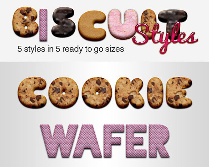Biscuit-Styles - 35+ Tasty Food & Drink Photoshop Text Effects