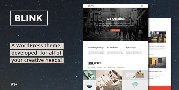 Blink - 35+ Awesome One Page Creative Blogger Template [year]