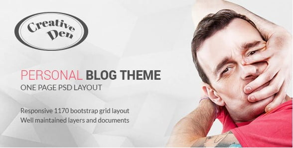 Bloggers-Den - 35+ Awesome One Page Creative Blogger Template [year]