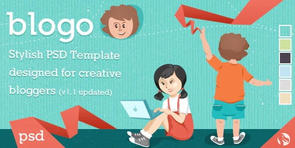 Blogo - 35+ Awesome One Page Creative Blogger Template [year]