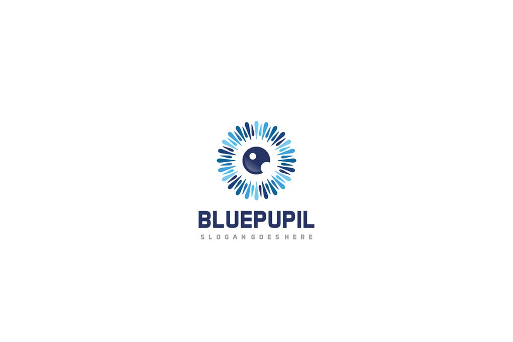Blue-Pupil-Logo - 35+ Awesome Eye Logo Design Templates [year]